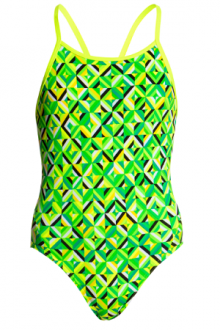 Funkita Girls Diamond Back One Piece Radioactive