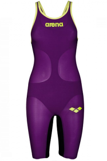 Arena W Carbon Air open back plum/fluo-yellow