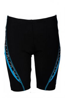 Arena B Microcarbonite Jr Jammer black-turquoise-white