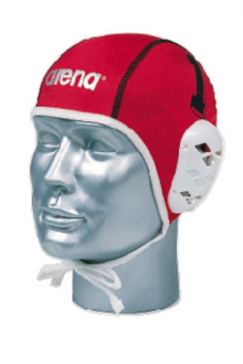 Arena Waterpolo Cap 1-15 White/Red
