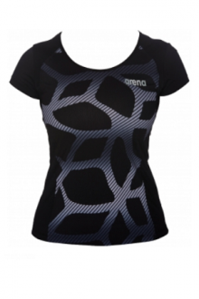 Arena W Performance Spider T-Shirt Black-white