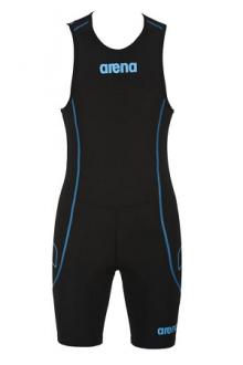 Arena M Rear Zip Trisuit St Black/turquoise