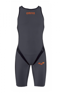 Arena M Zipped Trisuit Tri Poly C dark-grey/Black/Orange