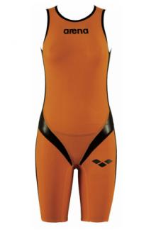 Arena W Zipped Trisuit Tri Poly C Orange/Black/Orange