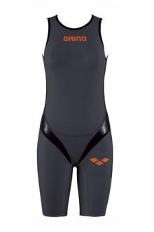 Arena W Zipped Trisuit Tri Poly C dark-grey/Black/Orange