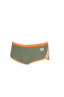 Arena M Team Stripe Low Waist Short Army-Tangerine