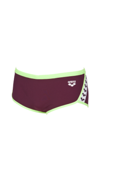 Arena M Team Stripe Low Waist Short red-whine-shiny-green
