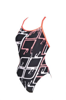 Arena W Blare Lightech One Piece L black-shiny-pink
