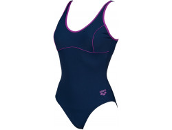 Arena W Tania Clip Back One Piece navy-provenza