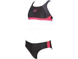 Arena G Ren Two Pieces black-grey-fluo-red