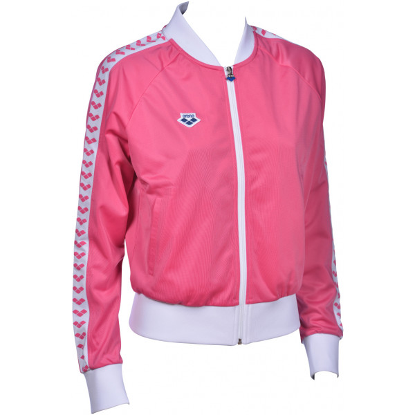 Arena W Relax Iv Team Jacket pink-flambe-white