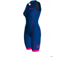Arena W Trisuit St 2.0 Front Zip royal-pink