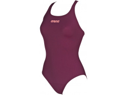 Arena W Solid Swim Pro red-wine-shiny-pink