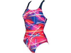 Arena W Light Beams Swim Pro Back One Piece navy-multi