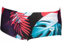 Arena M Tropical Leaves Low Waist Short black-multi